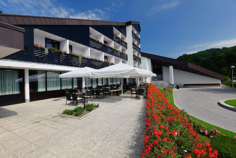 Hotel Breza Slovenia. Directly connected by a covered hall to the Termalija Wellness Center and surrounded by lush green nature, the Breza hotel is a convenient place to stay in Terme Olimia
