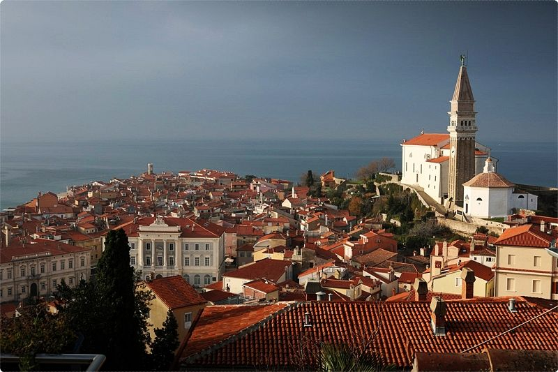 Piran's Old Town is a gem of Venetian Gothic architeclure and is full of narrow streets, but it can be mobbed at the height of summer.