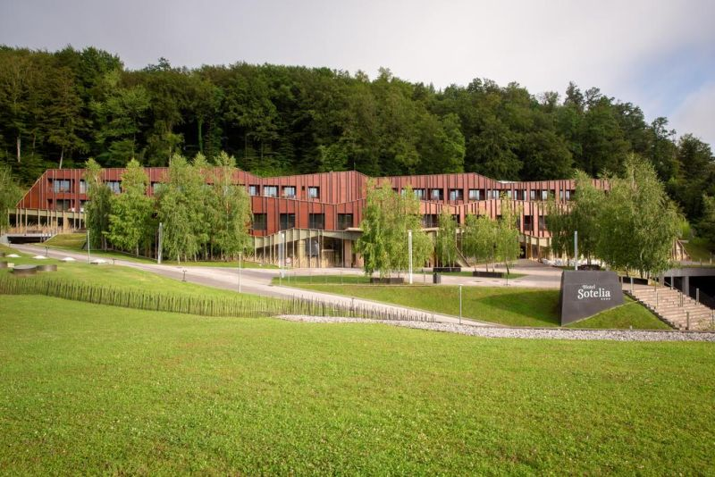 Hotel Sotelia. Terme Olimia – Hotel Sotelia is located in the small town Podcetrtek, surrounded by lush greenery. It is connected to the the Wellness Center Termalija and Wellness Orhidelia with an underground hall.