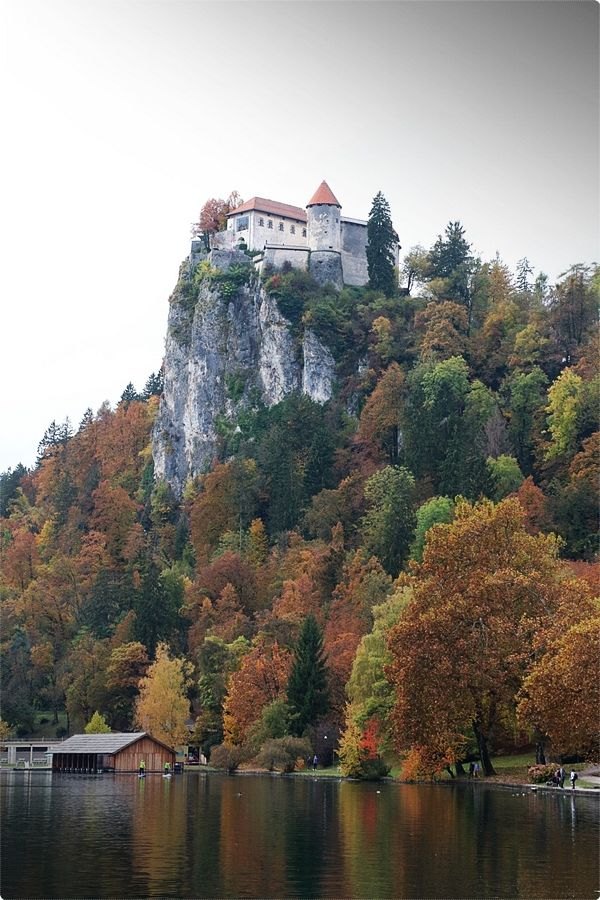 Bled Castle can be found on a high hill close to the end of Bled town, and it comes with a beautiful, impressive view of the entire lake, island, town, and mountains.