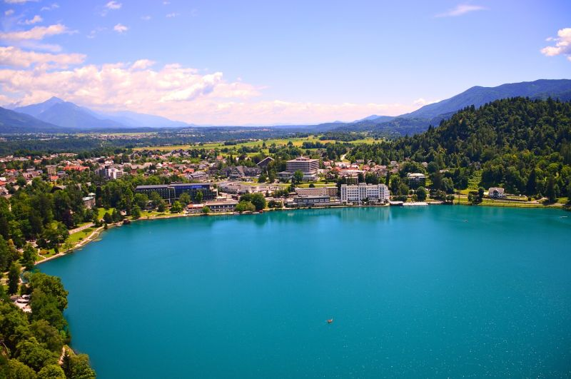 Stroll around the Lake Bled. The path around the lake if mostly flat and suitable for all ages. It has a length of 6 kilometers or 4 miles. Therefore, the walk can be done in two to three hours.
